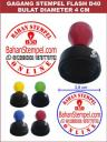 5 Gagang Stempel Warna Bulat Diameter 40 mm.