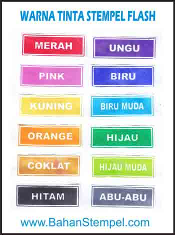 Warna Tinta Stempel Flash